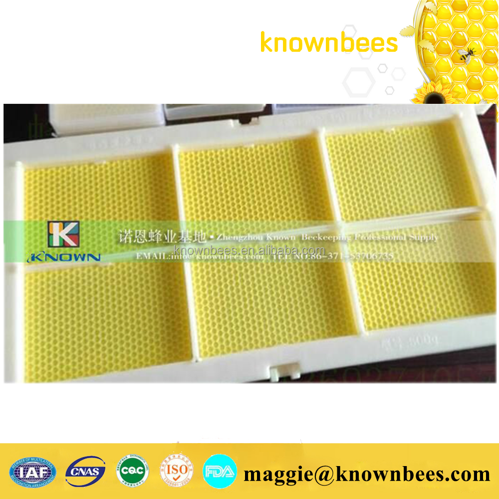 plastic beeswax honey comb foundation with frame for apis mellifera beekeeping
