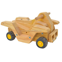 Trade assurance natural handmade wholesale custom wooden motorcycle toy