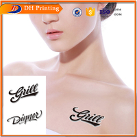 gold supplier women sexy hot image alphabet temporary tattoo