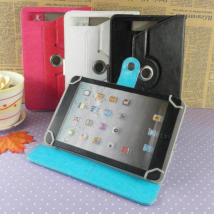 PU leather 7 8 9 10 11 inch size cases for ipad tablets 360 degree totation universal tablet cover for all tablet pc wholesale