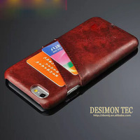 high quality fancy Leather mobile phone shell with card slot for iphone 6 4.7inch