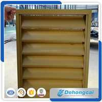 Used Exterior Fixed And Openable Power Coated Aluminium Louver/Shutter Window/Air Conditioning Louver