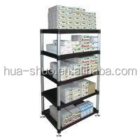 strong durable heavy duty loading plastic storage rack