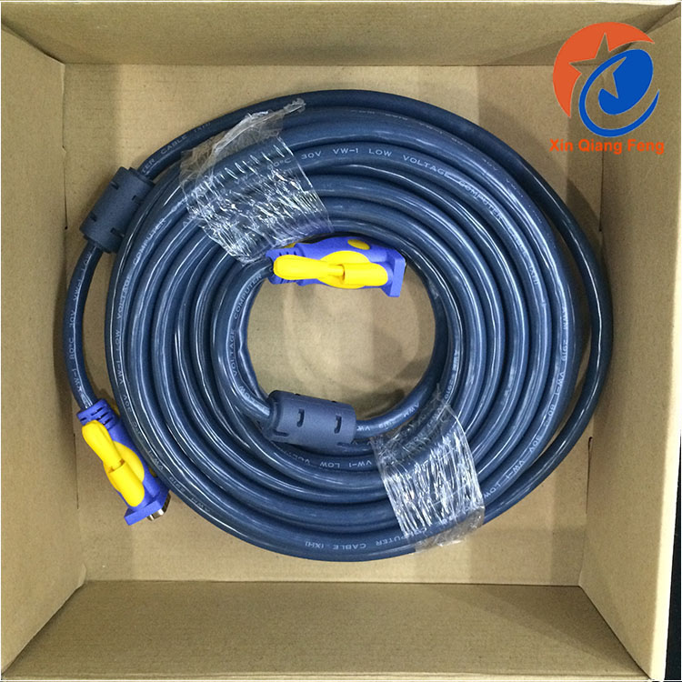 high speed 3+6 projector male to male vga cable 15m