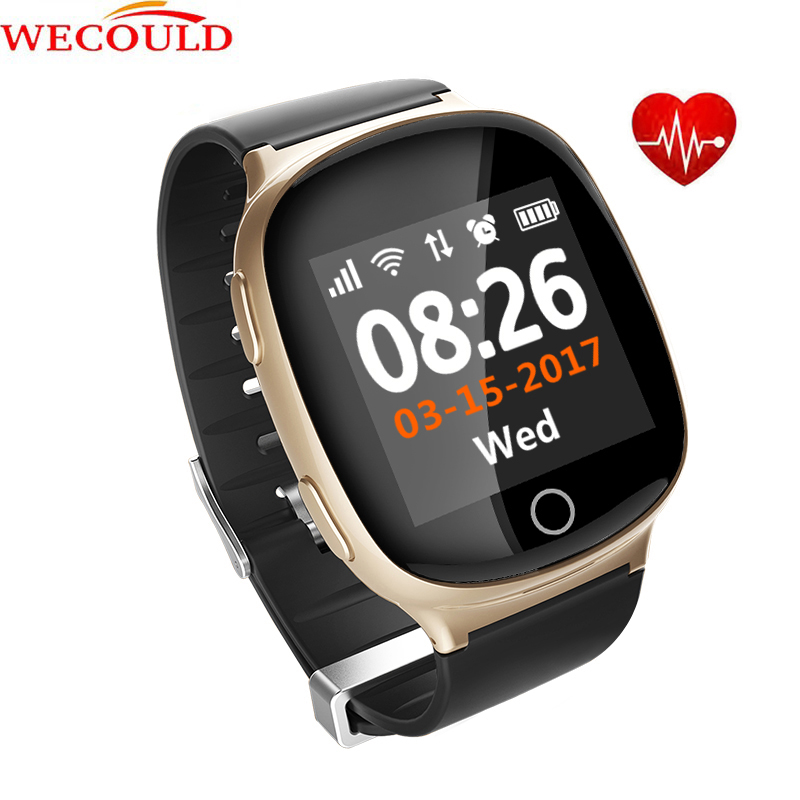 WECOULD 4G sim card slot mobile watch phones bluetooth sos button elder gps watch tracker with heart rate anti-lost