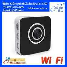 Battery operated mini wireless hidden security video wifi ip camera with memorv card