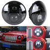 "New design hi/lo beam round 7"" 40w car led headlight 12-24v auto driving lights for Off road wrangler kits"