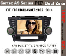 Fit for Toyota highlander 2008-2014 1080P BT TV GPS IPOD in dash car dvd gps system