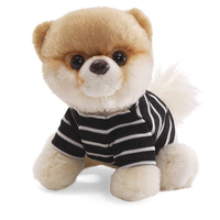 Lovely stuffed plush dressed dog with big eyes for all age