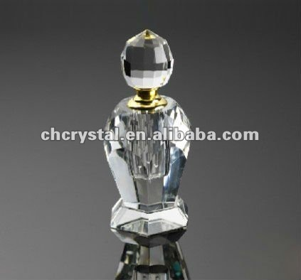 clear crystal pointed perfume bottle, elegant decorative perfume bottle