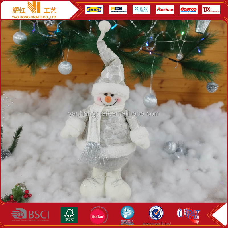 Children Toys Ornament Xmas Snowman Dolls For Christmas