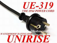 Slow Cooker rubber power cord with VDE waterproof plug