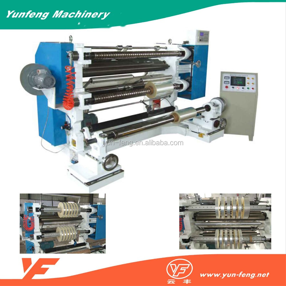 High quality used automatic plastic film paper slitting machine