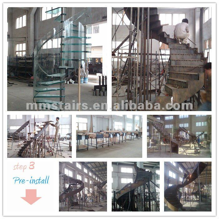 Stainless Helical Stairs Design