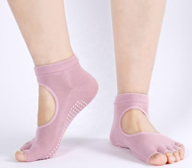 Comfort socks women yoga socks anti odor antibacterial non slip|pink socks