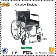 Folding wheelchair with toilet/ commode wheelchair,commode chair