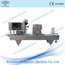 Factory price automatic tray sealer cup filling and sealing machine coconut milk sealing cup machine