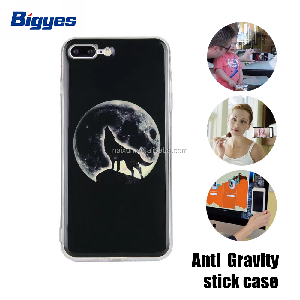 bigyes 3d printing cartoon anti gravity tpu pc sublimation mobile back cover phone case for iphone 7 7 plus