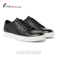 Kilang Kasut Supplier Malaysia Custom Black Leather Luxury Sneakers