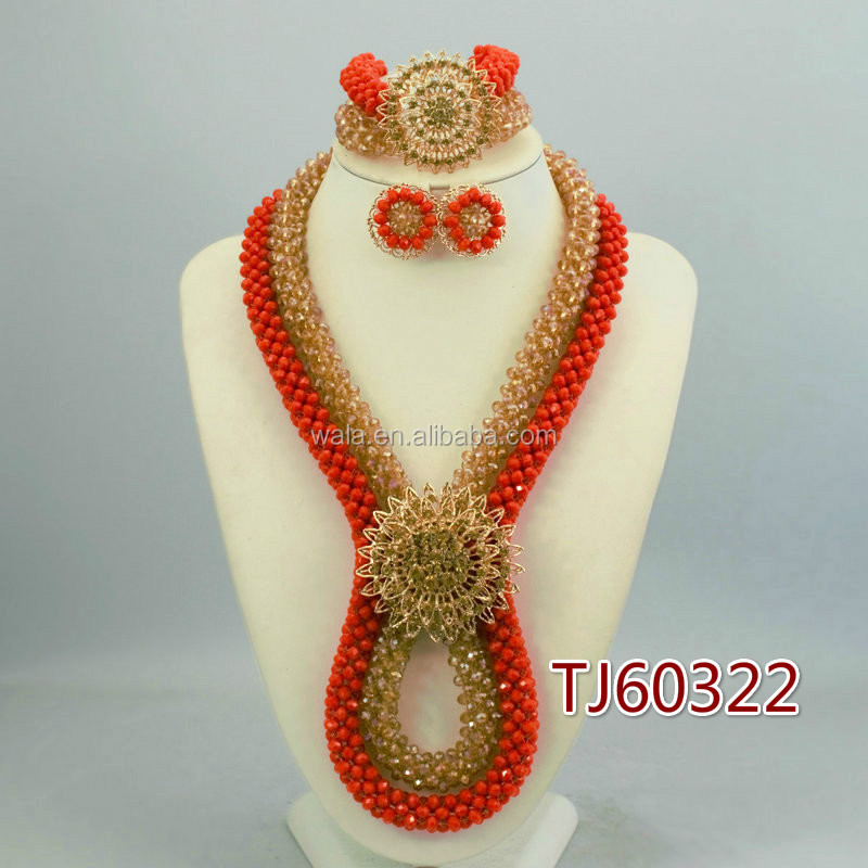 TJ60322 Red coral color beads jewelry fashionable jewelry beads for Nigeria party