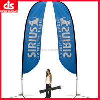 European banner stand for outdoor advertising