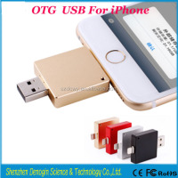Free Shipping!!! 3 in 1 Fashionable High speed flash drive U disk device USB external storage for iphone 5s/6/6p/ipad