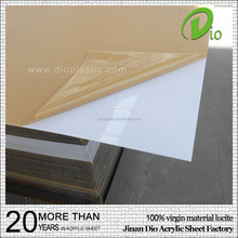 100% virgin white high gloss 1220x2440mm cast acrylic laminate sheet 3mm