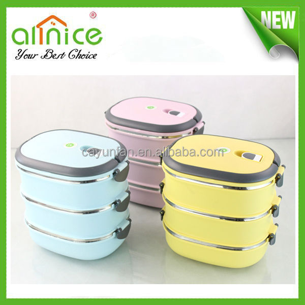 2014 promotional food container/insulated food container/metal food storage container