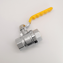 "China yuhuan factory high quality Forged Chromed Plated Hot Sales 3/4"" ball valve brass with ss lever handle PN25"