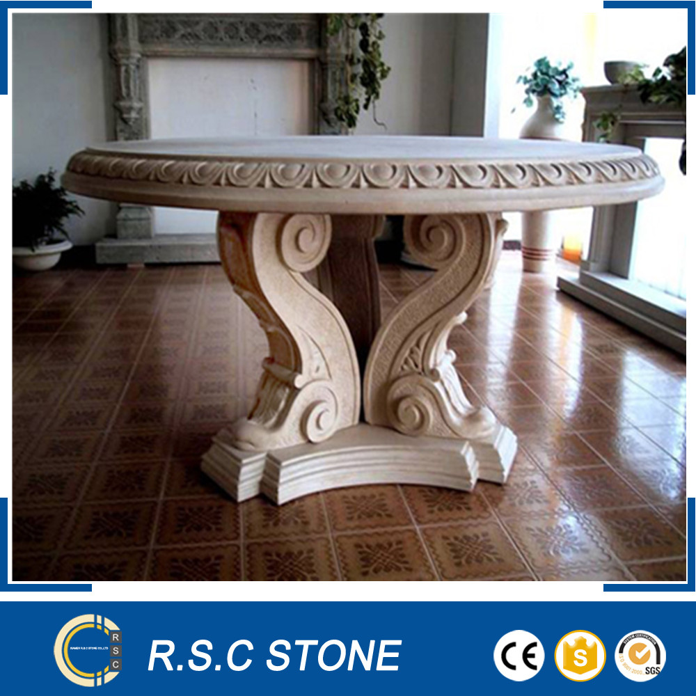 High quality hand carved marble tables