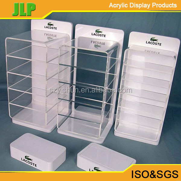 JLP Wholesale black acrylic display case with lock and key,customized E-cigarette display case