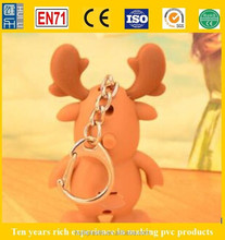 Wholesale custom cute animal shape c, Top Supplier Wholesale Custom Promotional LED keychain with sound