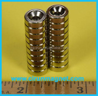 N52 N42 permanent custom rare earth countersunk super strong china ndfeb dog magnet manufacturer price