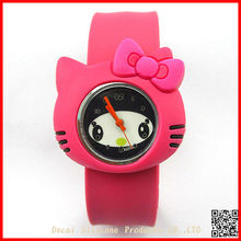 wholesale cheap japan cartoon hello kitty silicone slap watch for kids