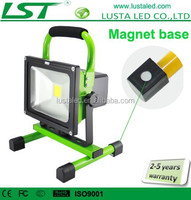 Portable LED Flood Lights 5W 10W 20W Magnetic Stand 12V 24V LED Flood Light Rechargeable IP65 Outdoor Magnetic Work Light