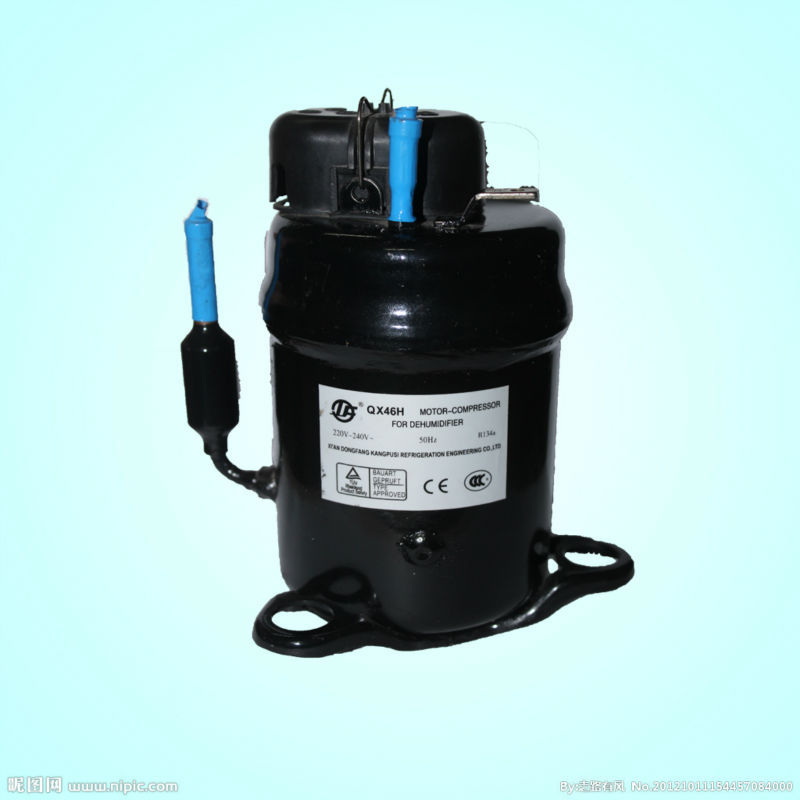 QX55HB-G 115-120V/60Hz 2421BTU hermetic rotary <strong>AC</strong> small refrigeration <strong>compressor</strong> <strong>R134A</strong> refrigerant <strong>compressor</strong>