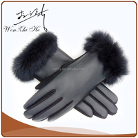 Luxe Python Skin Pattern Leather Gloves Sewing Machine