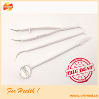 Disposable emergency dental examination cleaning kit