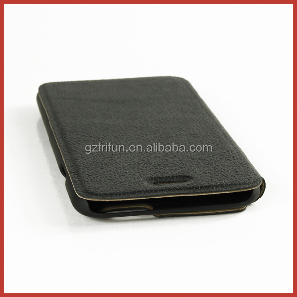 Pure black PC material cover,flip PU leather phone case 4.7 inch