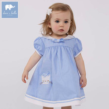 DBM7342 dave bella summer baby Lolita high quality clothes infant toddler lovely costumes children short sleeve girls dress
