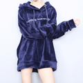 Wholesale Street Fashion Big Size Hooded Pullover Teens Sweatshirt