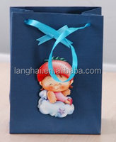 gift paper bag with silk handles