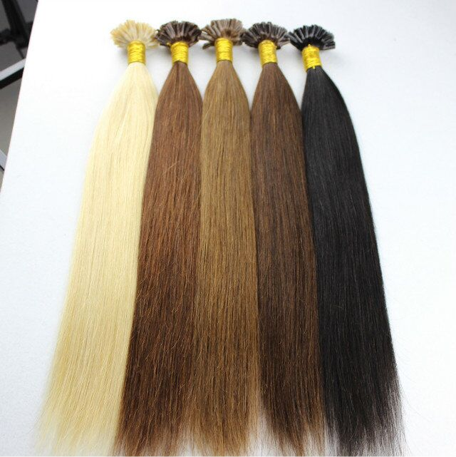 Tangle free wholesale cheap Brazilian virgin remy U tip human hair extensions