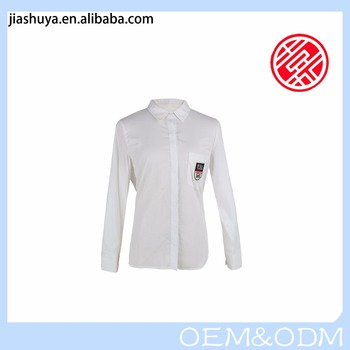 New Fashion Women's Formal White Blouses For Ladies D59