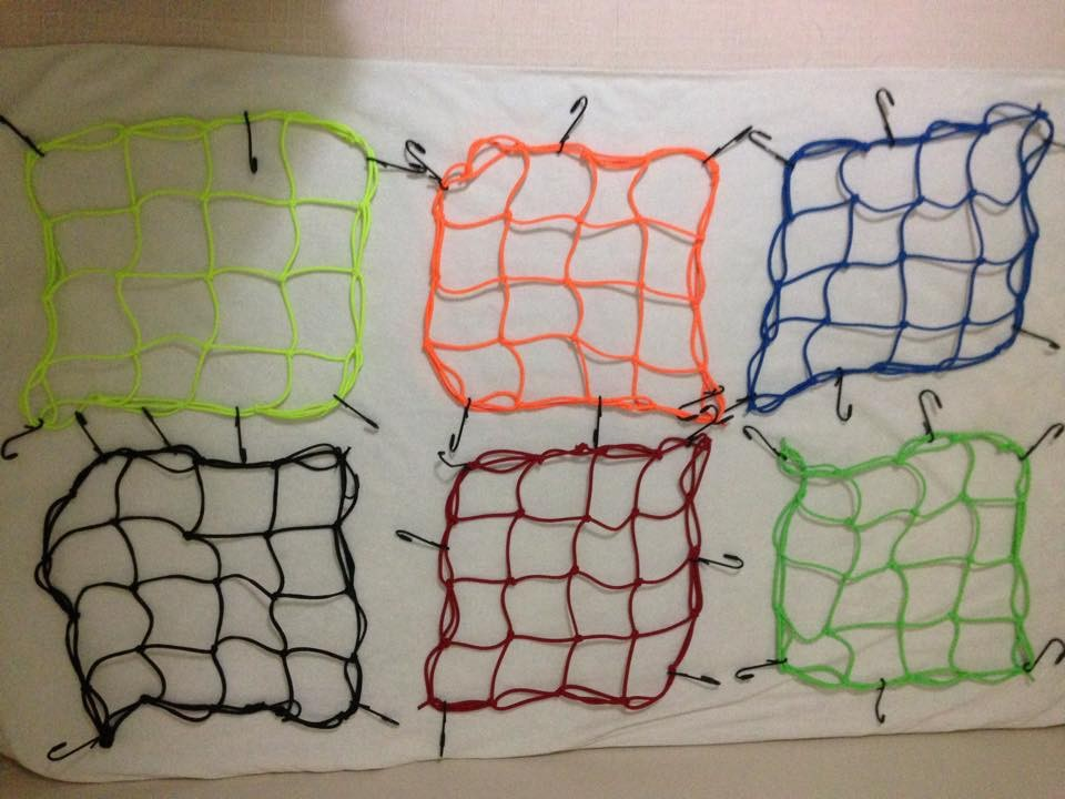 cargo net for motorcycle 15 x 15