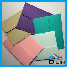 colorful blank greeting cards packed envelope