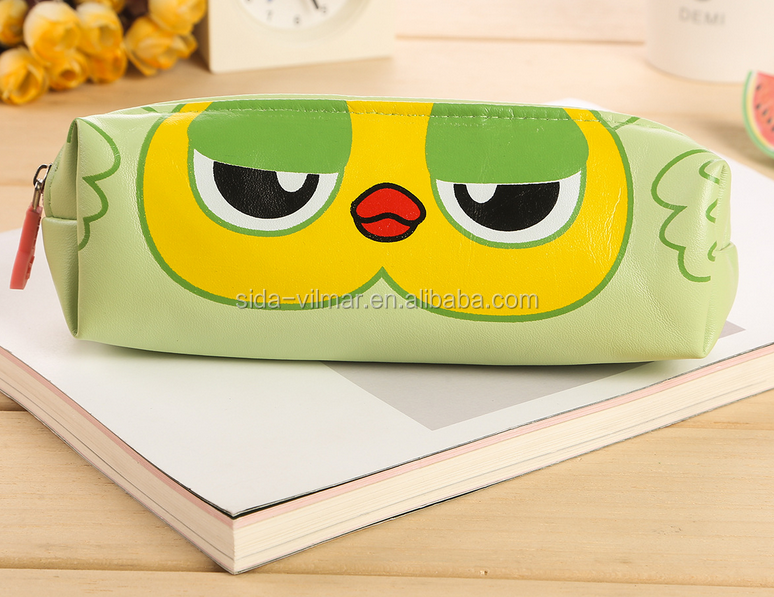 funny zipper pencil case for school kids teenagers cute pencil case