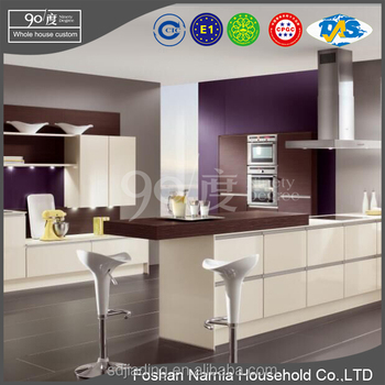 red wine high gloss cheap kitchen cabinet/lacquer kitchen cabinet