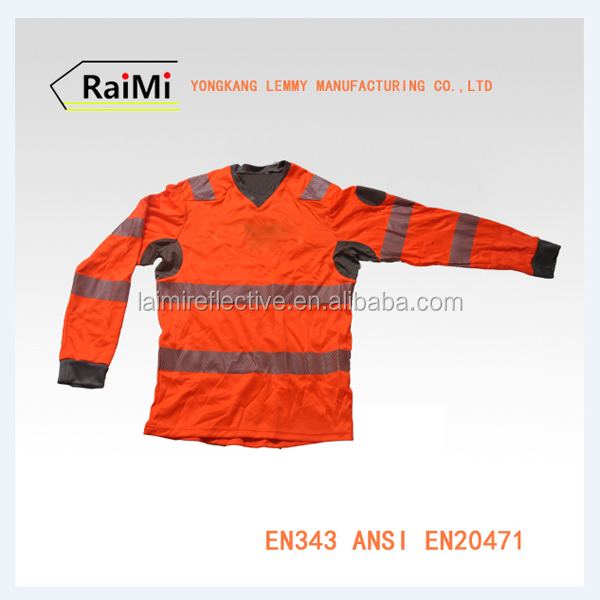 A- SAFETY 100% cotton fluorescent orange high lighting safety shirt