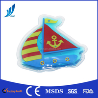 Gel reusable boat shaped hot cold pack/cold hot ice bag for Medicine Physics